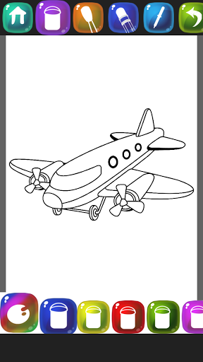 Aeroplane Coloring Book
