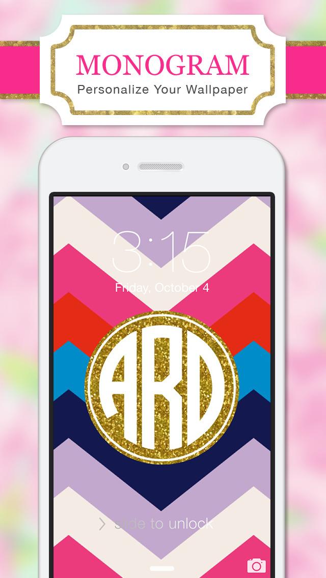 Monogram Lite   Wallpaper Amp Backgrounds Maker Hd With Glitter Themes 4.2