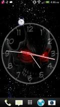 Creepy Skull Clock Live Wallpaper mobile app for free download