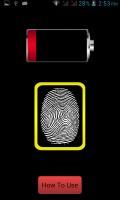 Finger Battery Charger Prank mobile app for free download
