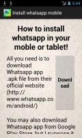 Install WhatsApp Mobile mobile app for free download