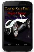 ConceptCarsThatMightChangeTheWayWeDrive mobile app for free download