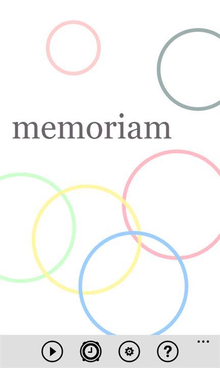 Memoriam 1.0.0.0