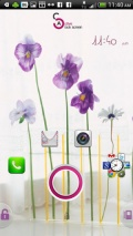 Active   Pansy Flower Theme mobile app for free download