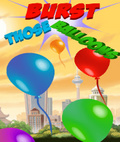 Burst those Balloon Free 176x208 mobile app for free download