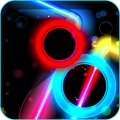 Glow Air Hockey   240x400 mobile app for free download