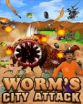 Worm\'s City Attack 208x320 mobile app for free download