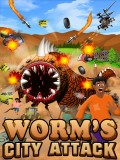Worm\'s City Attack 240x400 mobile app for free download