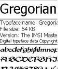 gregorian font mobile app for free download