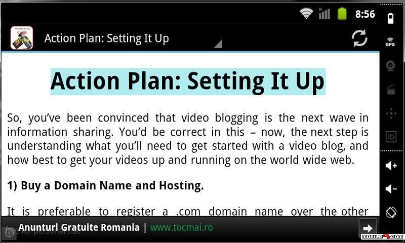 Video Blogging Cash System
