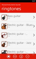 Musical Instruments Sounds mobile app for free download