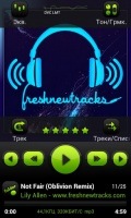 PowerAmp FreshGreen Skin mobile app for free download