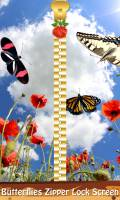 Butterflies Zipper Lock Screen mobile app for free download