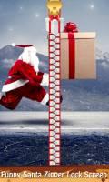 Funny Santa Zipper Lock Screen mobile app for free download