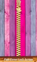 Pink Zipper Lock Screen mobile app for free download