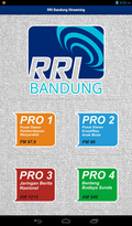 RRI Bandung Streaming mobile app for free download