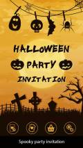 Halloween Party Invitation mobile app for free download