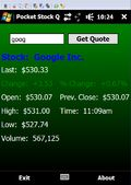 Pocket Stock Quote mobile app for free download