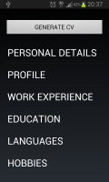 Curriculum Vitae mobile app for free download