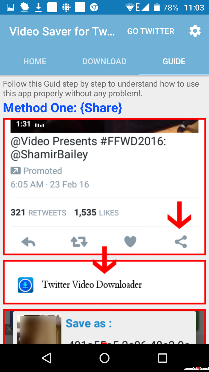 Save Videos For Twitter