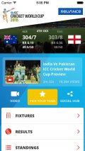 ICC Cricket World Cup 2015 mobile app for free download