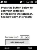B2C   Birthday2Calendar mobile app for free download