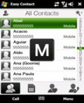 Easy Contact mobile app for free download