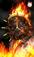 Ghost Rider Fire Clock Live Wallpaper with Alarm mobile app for free download