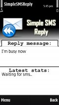Simple SMS Reply mobile app for free download