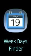 Week days finder mobile app for free download