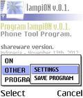 lampiON v.0.1. En Personal mobile app for free download